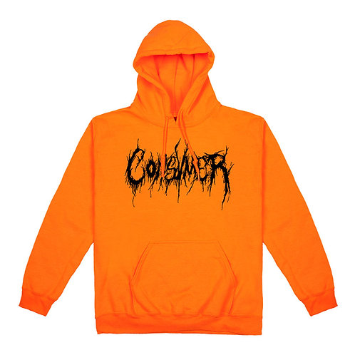 Hoodie orange | Consvmer font