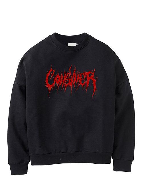 Sweatshirt | Consvmer font red