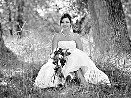 Hochzeitsfoto schwarzweiß