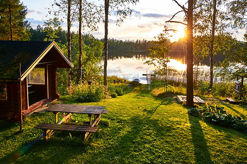 The lakes in Finland are a great place t