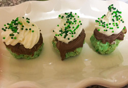 St. Patrick's Day Chocolate Puffs