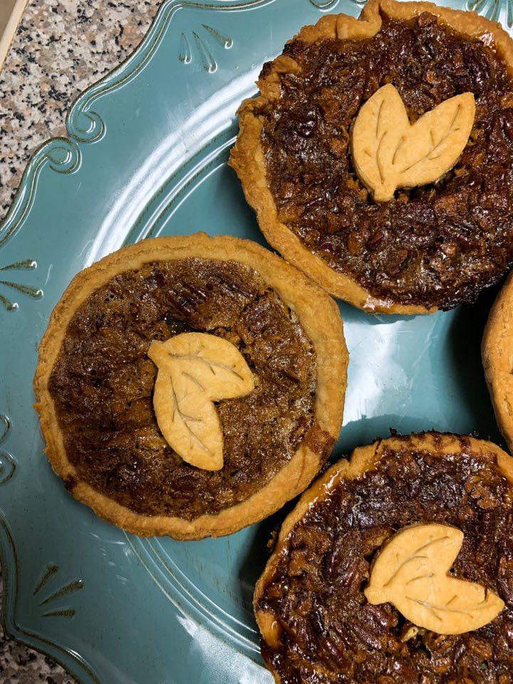 Bourbon Pecan mini-pies