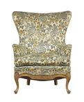 Worn antique armchair