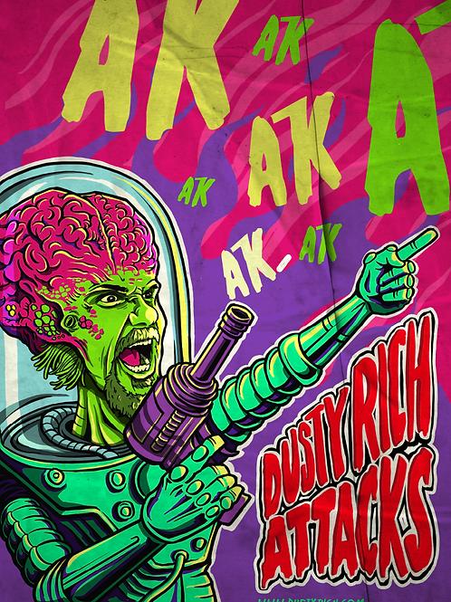 AK AK AK Attack Poster