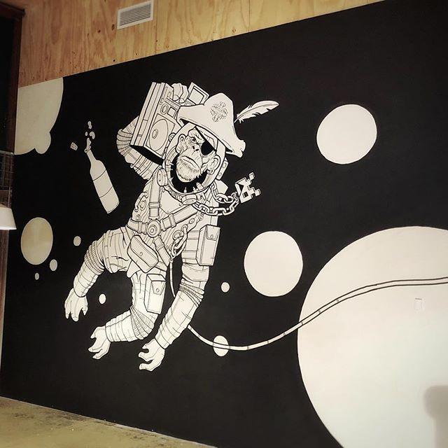 Space Ape Mural