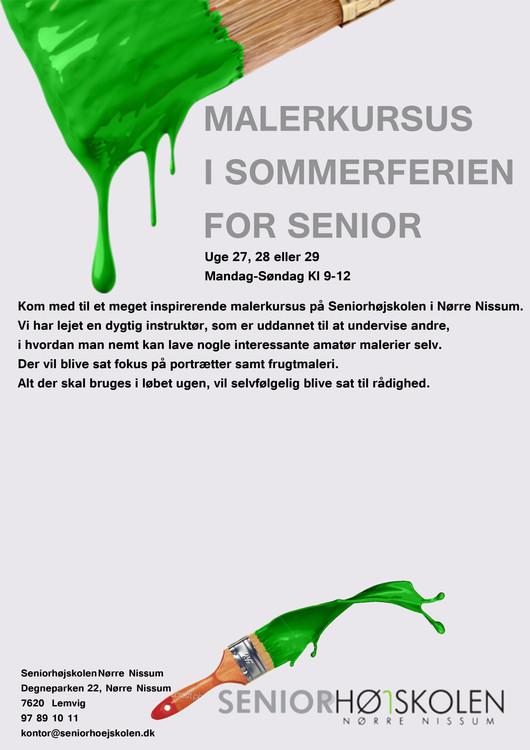 Plakat forslag til malerkursus