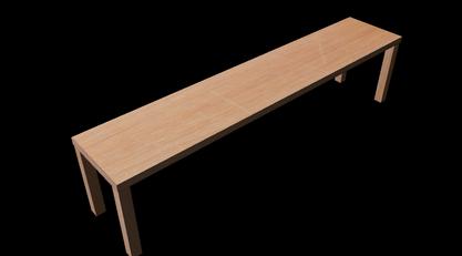 3D modeleret + textureret bord