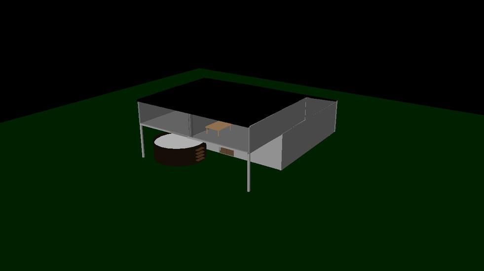 3D modeleret hus