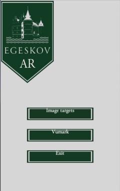 Applikationens menu