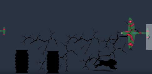 Screenshot af lysprojektion