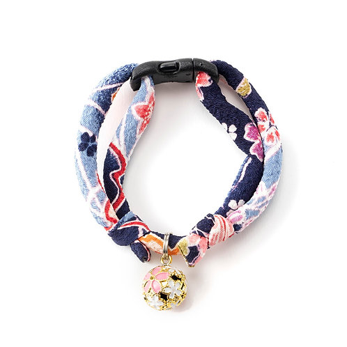 Chirimen Sakura Cat Collar