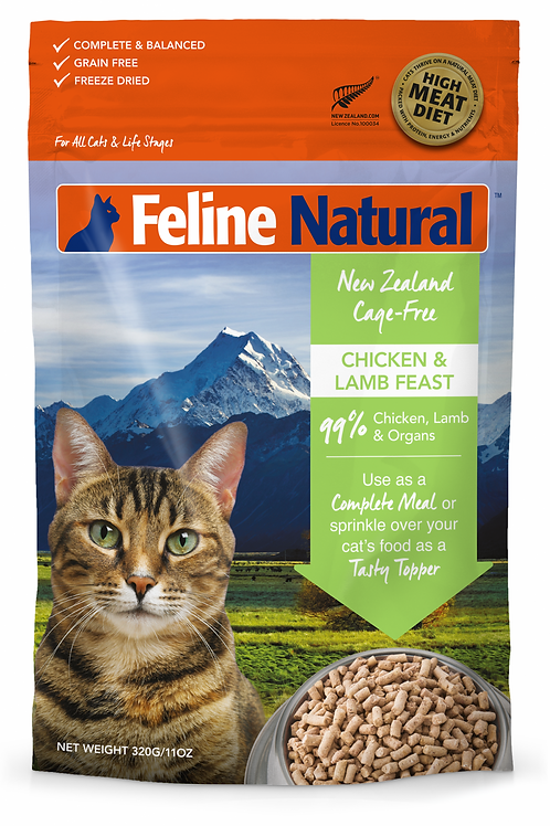 K9 Freeze Dried Chicken and Lamb Feast Cat Food 320g