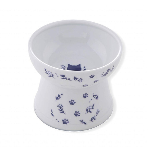 Necoichi Nordic Raised Cat Food Bowl