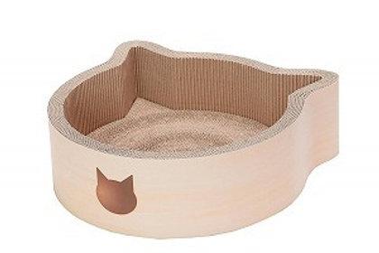 Necoichi Cat-headed Scratcher Bed Large