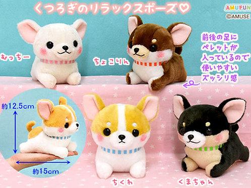Muchimu-Chihuahua Relax ST Plush Toy (4 Plushes Bundle)