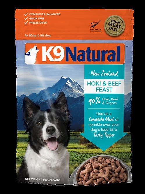 K9 Freeze Dried Hoki & Beef Feast Dog Food