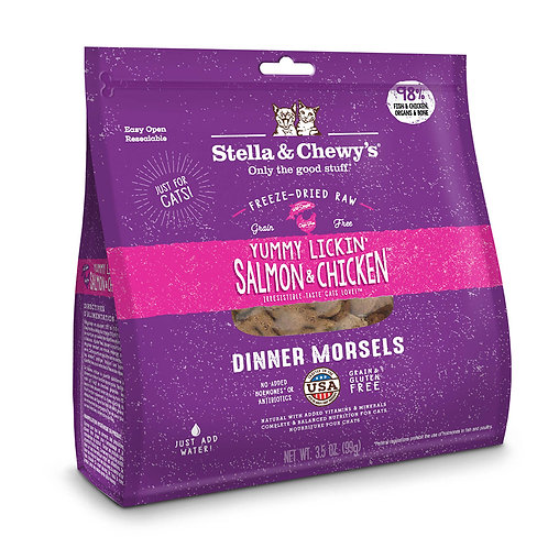 Stella and Chewy'sYummy Lickin' Salmon & Chicken Freeze-Dried Raw Dinner Morsels