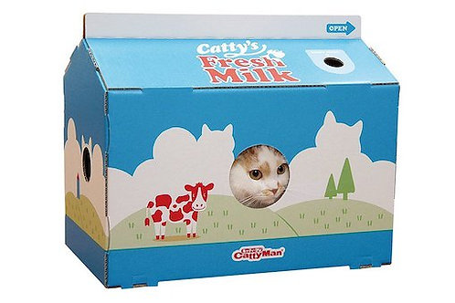 Milk Carton Cat House with Scratching pad