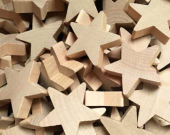 Large Unfinished Wooden Star
