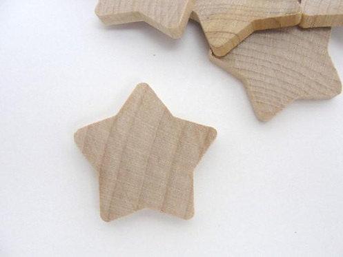 Natural Wooden Stars
