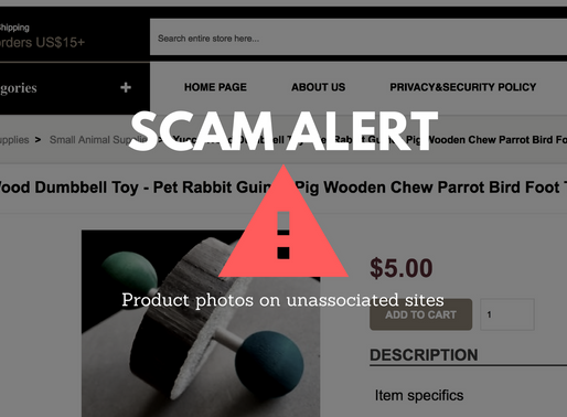 Scam Alert: Product photos on unassociated sites