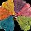 Thumbnail: Colour Small Vine Hearts x 5