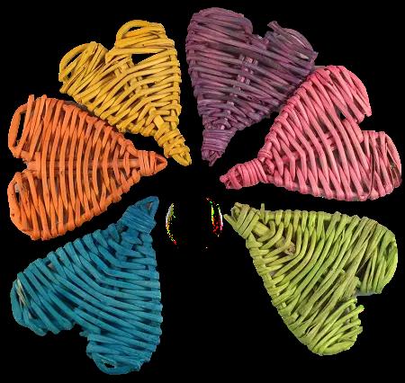 Colour Small Vine Hearts x 5