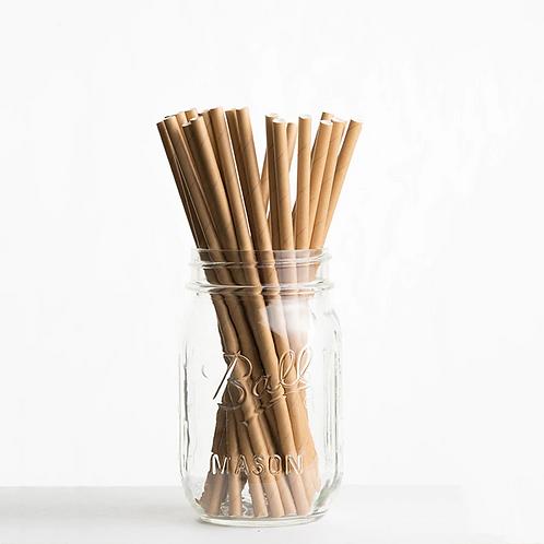 Kraft Paper Straws x 25+