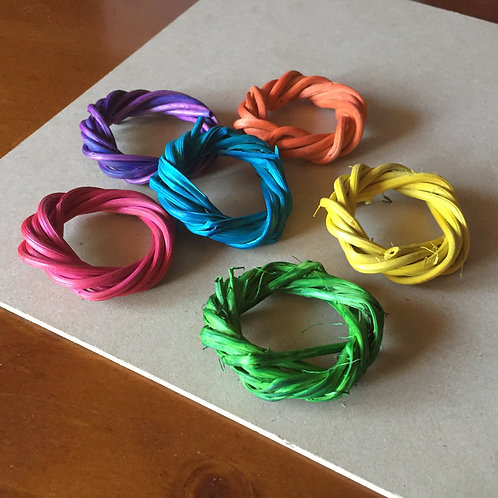 Small Colour Vine Rings x 5