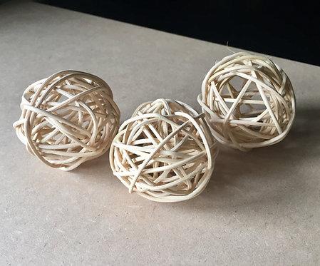 Natural Rattan Balls x 3+