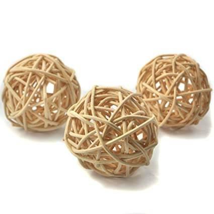 Bulk Medium Rattan Balls x 50