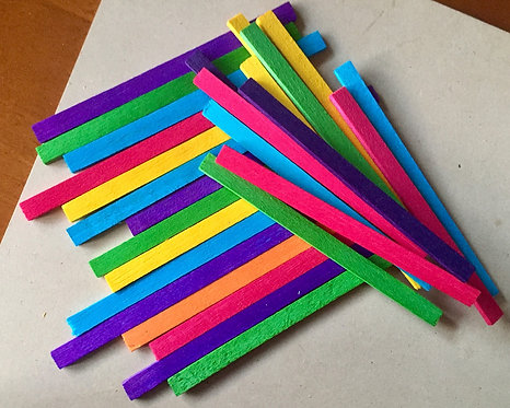 Colour Balsa Wood Sticks