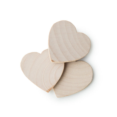 Wooden Hearts x 10