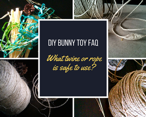 Bunny Toy FAQ: What string or rope is safe?