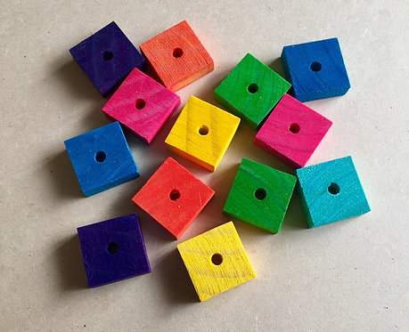 Colour Pine Wood Squares x 5+