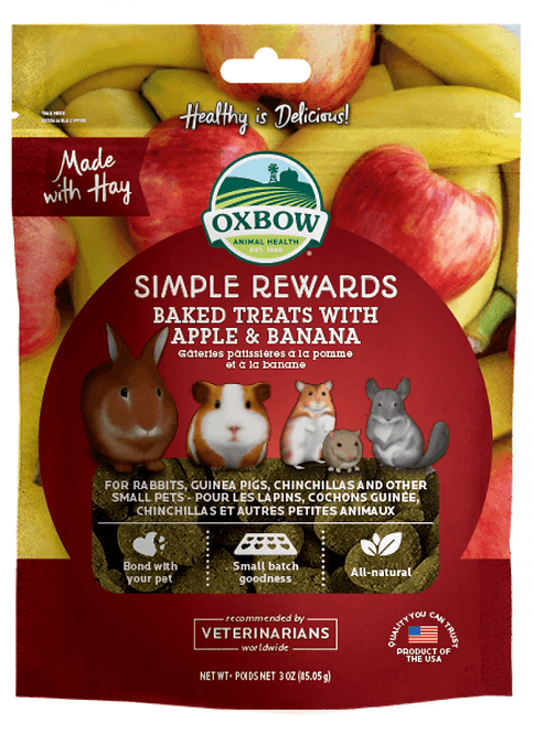 Oxbow Simple Rewards Apple & Banana Treats
