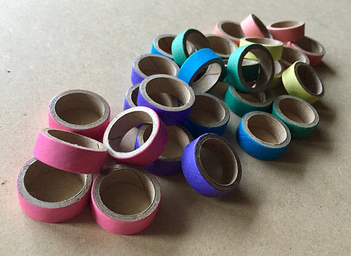 Bulk Mini Cardboard Rings x 100