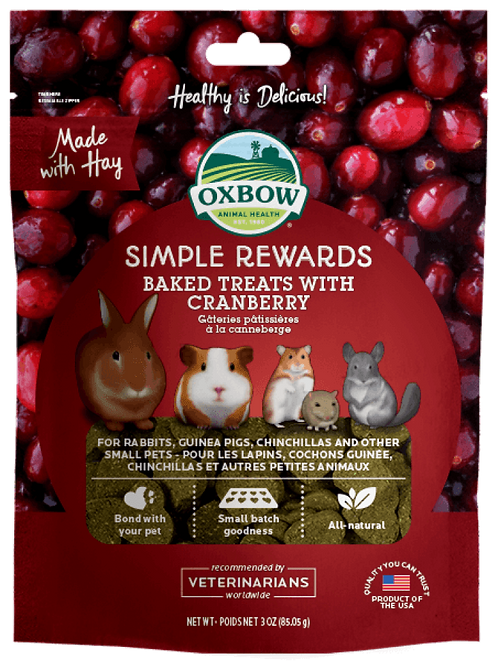 Oxbow Simple Rewards Cranberry Treats