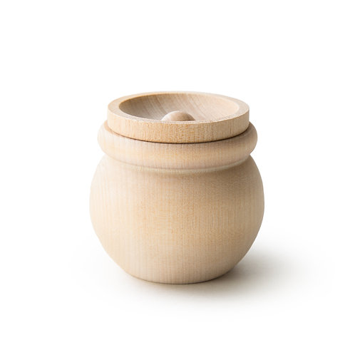 Wooden Bean Pot with Lid