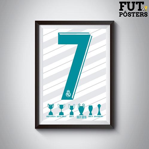 Pôster Idolos do Real Madrid - CR7 - 29,7 x 42 cm (A3)