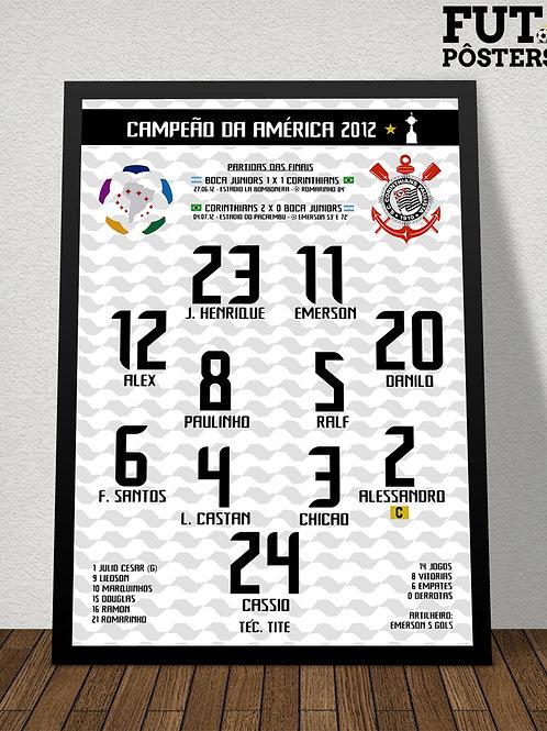 Pôster Corinthians Campeão da Libertadores 2012 - 29,7 x 42 cm (A3)
