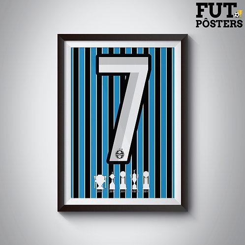 Pôster Idolos do Grêmio - Luan - 29,7 x 42 cm (A3)