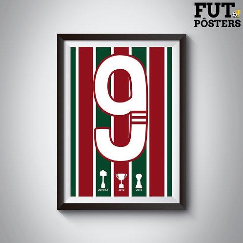 Pôster Idolos do Fluminense - Fred - 29,7 x 42 cm (A3)