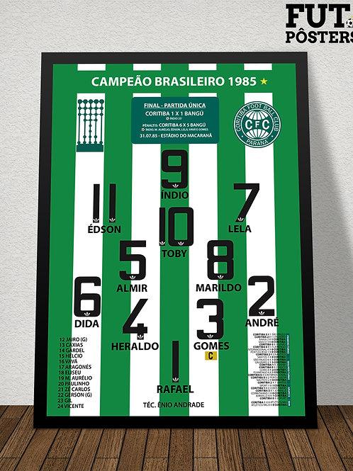 Pôster Coritiba Campeão Brasileiro1985 - 29,7 x 42 cm (A3)