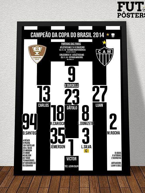 Pôster Atlético MG Campeão da Copa do Brasil 2014 - 29,7 x 42 cm (A3)