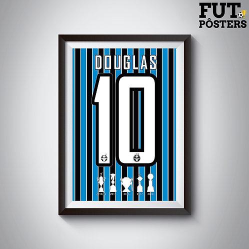 Pôster Idolos do Grêmio - Douglas - 29,7 x 42 cm (A3)