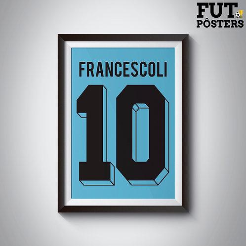 Pôster Idolos do Uruguai - Francescoli - 29,7 x 42 cm (A3)