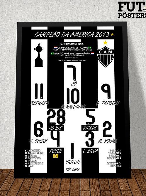 Pôster Atlético MG Campeão da Libertadores 2013 - 29,7 x 42 cm (A3)