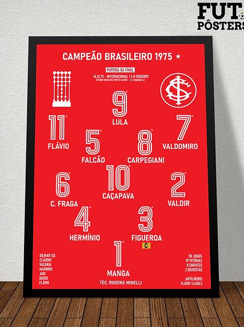 Pôster Inter Campeão Brasileiro 1975 - 29,7 x 42 cm (A3)