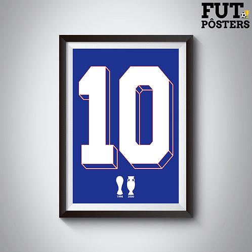 Pôster Idolos da França - Zidane - 29,7 x 42 cm (A3)